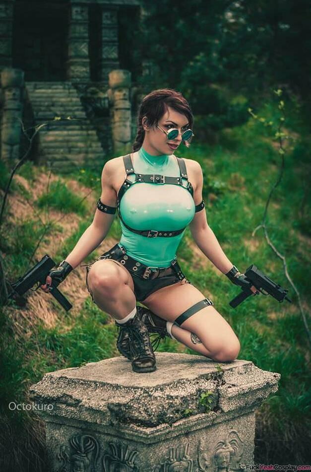 Lara Croft - Tomb Raider cosplay II. by EnjiNight on