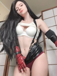 Tifa's front view By Evenink_cosplay