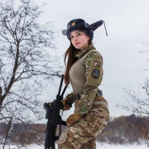 Russian Soldier Babe Cosplay By Elena Deligioz
